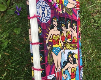 Wonder Woman - Coptic Journal - Sketchbook