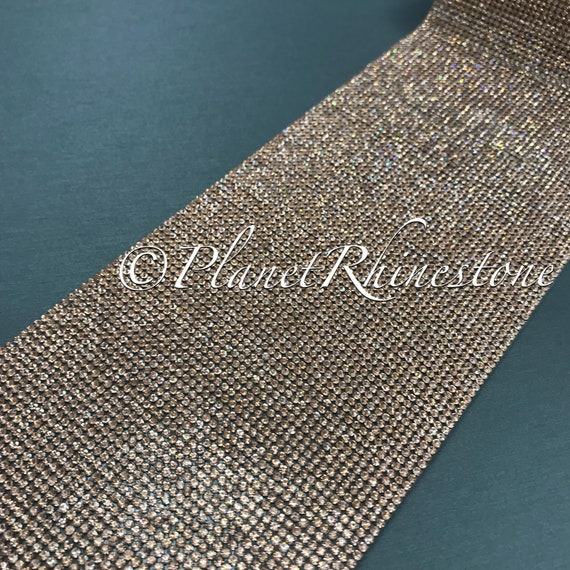 Rose Gold Iron-On Crystal Sheet #S004