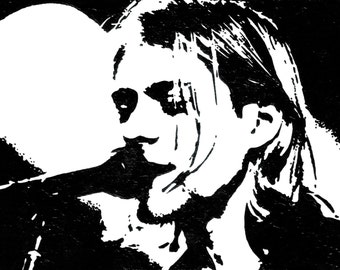 8.5x11 Print of Kurt Cobain