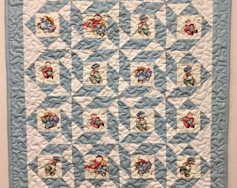 Baby Quilt - Machine Quilted - Vintage Fabric - New
