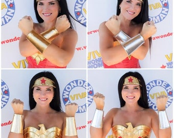 Wonder Superhero Woman CUFFS BRACELETS Gold or Silver