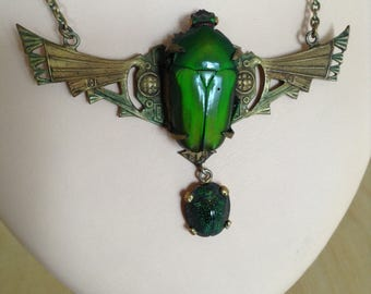 """1925's """"scarab"""" necklace."""