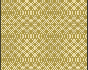 Knotted Trellis Art Gallery Fabrics, Olive Fabric, Fabric by the yard,
