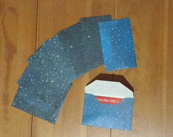Handmade Starry Sky Mini Envelopes - Business Card Envelope, Set of 8, Gift Card Envelopes - Origami Paper