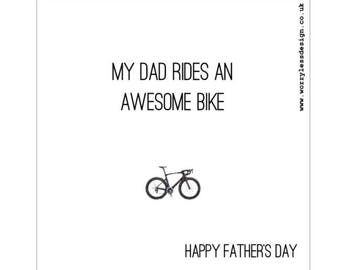 Father's Day Card - My Dad rides an awesome bike