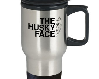 The husky face travel mug | siberian husky mug