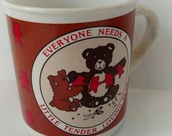 Vintage 1986 Coffee Mug Teddy Bear House of Lloyd