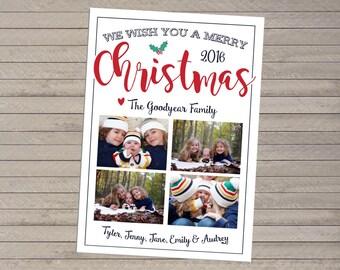 Four Photo Christmas Card