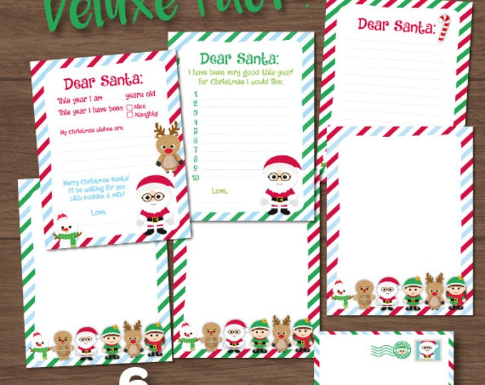 Santa Letter, Letter To Santa, Christmas Printables, Naughty or Nice, Instant Download, Printable Letter to Santa, Christmas Stationery