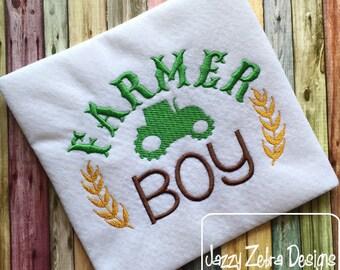Farmer Boy Saying Embroidery Design - boy Embroidery Design - farm Embroidery Design - farmer Embroidery Design - tractor Embroidery Design
