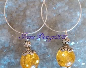 Amber Hoop Earrings by IreneDesign2011