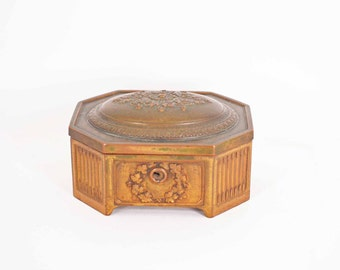 Jennings Brothers Brass Box Octagonal marked JB 1615