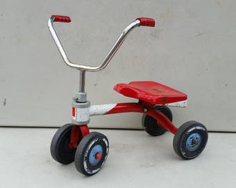 1970s WeeWheeler tricycle trike for toddlers pressed steel by AMF