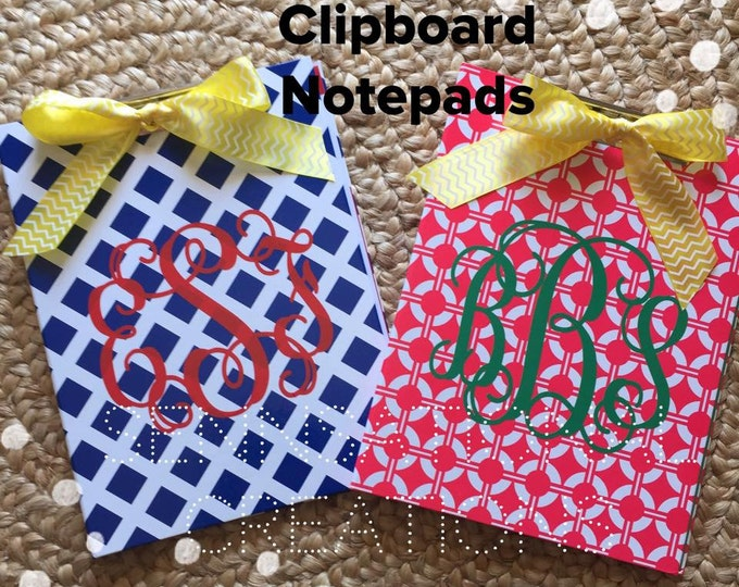 Monogrammed Clipboard, Teacher Gift, Clipboard, Notepad, Teacher Gift, Teacher Appreciation, Homework, Office Supplies, Office Board