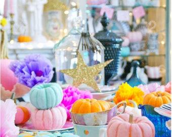Pastel Pumpkin Party - 5 Postcard set