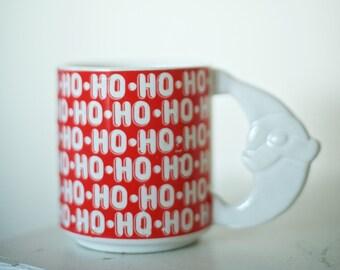 Vintage Santa Mug   Ho Ho Ho Santa Handle Mug Made in Japan