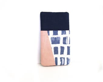 Smartphone Sleeve, Pouch for iPhone, Galaxy S5, S6 Edge,S7, Wiko, Xperia, iPhone 6s,  Galaxy mini, Nexus, Lumia, HTC, navy, pink