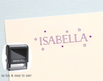 Christmas Gift for Kids, Personalized Kids, Stars Personalized Birthday Gift, Kids Name Stamp, Custom Name Stamp, AK117