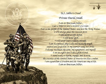 U.S. Army Soldier's Creed Personalized Print