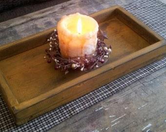 Primitive Candle Tray Box