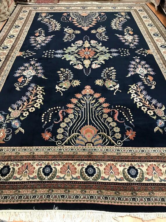 """10' x 14'3"""" Indian Jaipur Sarouk Design Oriental Rug - Hand Made - Full Pile - 100% Wool"""