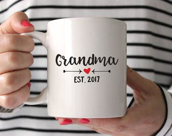New Grandma Gift Mothers Day Gift for Grandma Grandmother Gift Mothers Day for Grandma Pregnancy Announcement for Grandma Mug Coffee Mug Fun