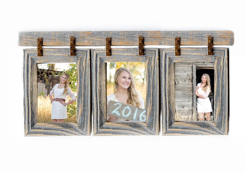 Barnwood collage frame 3 5x7 multi opening frame rustic picture 5995 jeuxipadfo Images