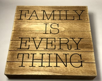 Family Is Everything Pallet Wall Decor