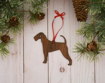 Customizable Airedale Terrier Christmas Tree Ornament | Personalized Dog Ornament