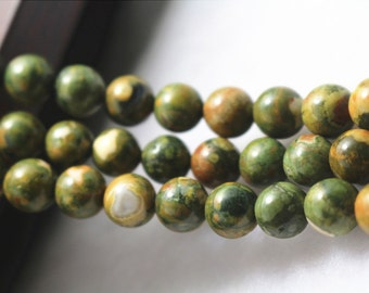 Birdseye Rhyolite beads,Natural and Smooth Round Beads,6mm 8mm 10mm 12mm Natural Birdseye Rhyolite beads,15 inches 1 strand