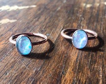 Opal Electroformed Ring | October Birthstone Ring | Opal Ring |  Electroformed Opal Ring | Opal Ring | Opal | Engagement Ring