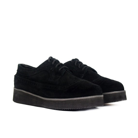 Puma Plattform Sneaker UK 5.5 rose Plateau Veloursleder Kreppsohle