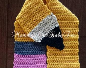 Crochet no.2 pencil scarf