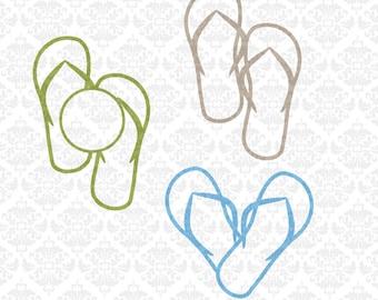 Flip Flop flipflops Heart Chevron Monogram SVG STUDIO Ai EPS scalable vector Instant Download Commercial Use Cricut Silhouette