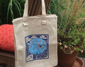 Vienna Grow Your Own Roots Tote - Blue