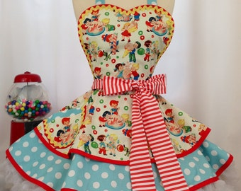 Candy Shop PInUp Apron /Retro Apron / Woman's Apron/ Rockabilly / 50s Style