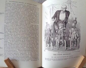 Vintage History book Modern Europe 1789-1945 Denis Richards hardback 1960 illustrated British German French world war Political Social 233