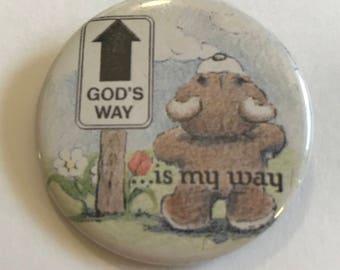 Religious Teddy Pin