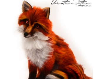 Red Fox: FireFox. Needle Felted Wool Animal Sculpture