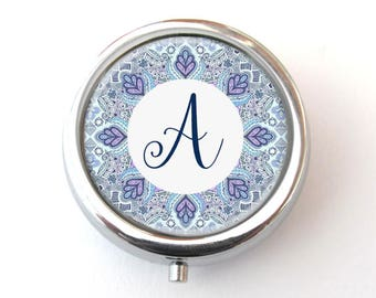 Pill Box, Personalized Monogram Pill Box, Trinket Box, Pill Container
