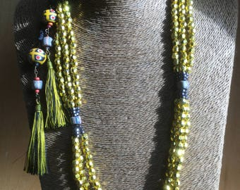 3-Strand Gold Rope Necklace