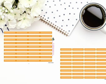 Planner Stickers|Box Stickers|Orange Box Stickers| Hourly and Vertical Planners| For use in a variety of planners and journals|HB018
