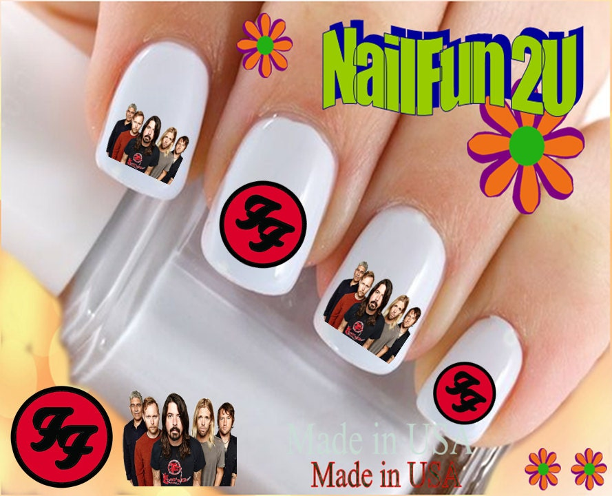 CHARACTER Nail Decals Foo Fighters Band Group FF