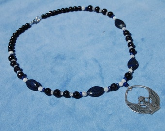Queen of Heaven Isis Necklace - aset necklace - auset necklace - kemetic - netjer - ancient egypt