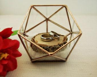 Glass Ring Box Wedding Ring Box Ring Bearer Box Bridesmaid