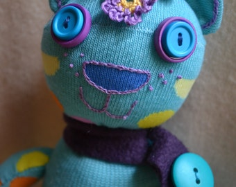 Noelle doll---SOLD, cat and friends