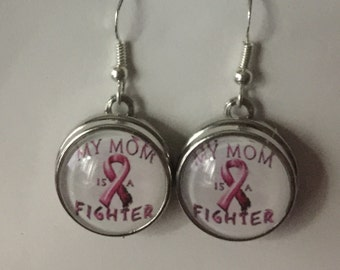 Mom is a Fighter Cancer Survivor Jewelry