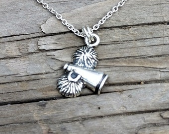 Sterling Silver Cheerleader Charm Necklace