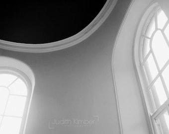 Black and White Print - Church Windows Fine Art Photograph - Belfast Architecture Photography - Northern Ireland - 8x10