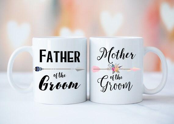 Mug Set, Mother and Father of The Bride Mug Set, Father of The Groom Gift, Mother of The Groom Gift, Parents Wedding Mug, Parents Weding